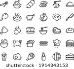 food line icon set   plate... | Shutterstock .eps vector #1914343153