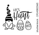 kids easter card. gnome ... | Shutterstock .eps vector #1914382360