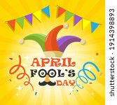 april fools day with funny... | Shutterstock .eps vector #1914398893