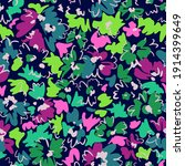 bright floral seamless pattern. ... | Shutterstock .eps vector #1914399649