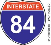 us state highway route marker... | Shutterstock .eps vector #1914400180