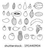 tropical fruits. hand drawn... | Shutterstock . vector #191440904