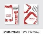 set of two grunge flyer...   Shutterstock .eps vector #1914424063
