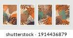 botanical wall art vector set.... | Shutterstock .eps vector #1914436879
