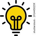 bulb vector color line icon