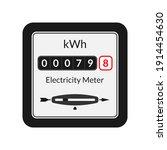 electric power meter. energy ... | Shutterstock . vector #1914454630