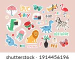 set of colorful stickers with... | Shutterstock .eps vector #1914456196