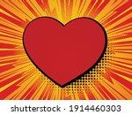 valentine comic. heart on red...   Shutterstock .eps vector #1914460303