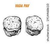 vada pav sketch  indian food.... | Shutterstock .eps vector #1914468610