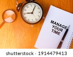 manage your time concept of...   Shutterstock . vector #1914479413