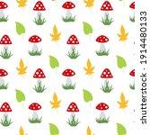 Seamless Pattern With Amanita...