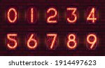 set of retro neon numbers from...   Shutterstock .eps vector #1914497623
