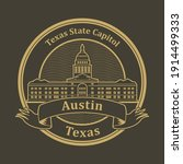 stamp or label with words texas ... | Shutterstock .eps vector #1914499333