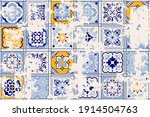 seamless vintage pattern with... | Shutterstock .eps vector #1914504763