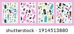 set of cover templates with...   Shutterstock .eps vector #1914513880