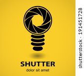 shutter  aperture  with bulb.... | Shutterstock .eps vector #191451728