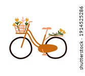 cute hand drawn bicycle or bike ...   Shutterstock .eps vector #1914525286