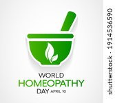 world homeopathy day is... | Shutterstock .eps vector #1914536590