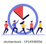 people run  hurry  rush to do... | Shutterstock .eps vector #1914548506