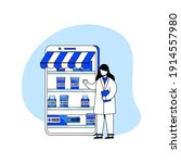 digital pharmacy icon concept... | Shutterstock .eps vector #1914557980