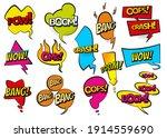 comic colored hand drawn speech ...   Shutterstock . vector #1914559690