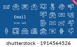 email icon set. line icon style....