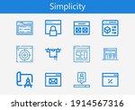 premium set of simplicity line...