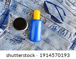 Blue Cosmetic Spray Bottle With ...