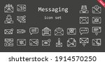 messaging icon set. line icon...