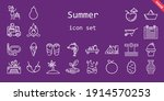 summer icon set. line icon... | Shutterstock .eps vector #1914570253