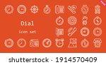 Dial Icon Set. Line Icon Style. ...