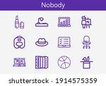 premium set of nobody line... | Shutterstock .eps vector #1914575359