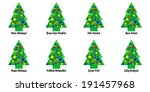 whimsical christmas tree tags... | Shutterstock . vector #191457968
