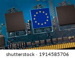 European Union Flag In The...