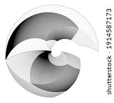 lines in circle form . spiral... | Shutterstock .eps vector #1914587173