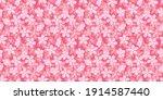 beautiful pink cherry blossoms. ...   Shutterstock .eps vector #1914587440