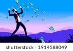 businessman and money   man... | Shutterstock .eps vector #1914588049