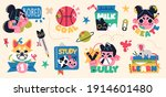 back to school collection of... | Shutterstock .eps vector #1914601480