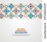 islamic greeting card banner... | Shutterstock .eps vector #1914603319