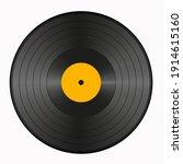 realistic vinyl record. vector  ... | Shutterstock .eps vector #1914615160