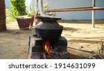 Pottery With Wood Stove On...