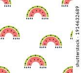 watermelon rainbow seamless...   Shutterstock .eps vector #1914632689