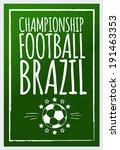 football brazil poster | Shutterstock .eps vector #191463353