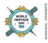 creative world heritage sites...   Shutterstock .eps vector #1914636676