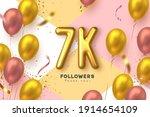 seven thousand followers banner.... | Shutterstock .eps vector #1914654109
