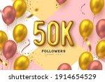 fifty thousand followers banner.... | Shutterstock .eps vector #1914654529