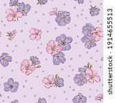 Pattern Background With Violet...