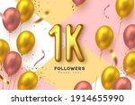 one thousand followers banner....   Shutterstock .eps vector #1914655990