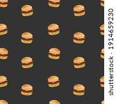 hamburger food emoji pattern.... | Shutterstock .eps vector #1914659230