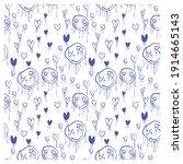 seamless pattern of graffiti... | Shutterstock .eps vector #1914665143
